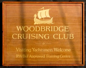 Woodbridge Cruising Club Sign