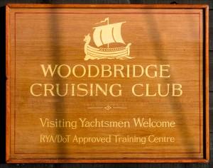 Woodbridge Cruising Club Sign